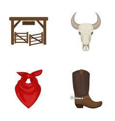 Gates a bull s skull a scarf around his neck vector