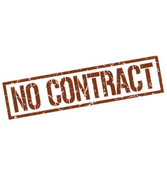 No contract stamp vector