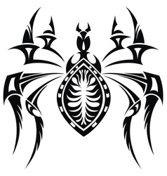 The stylized spider vector image