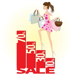 shopping sale vector image