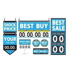 Department store signs set vector