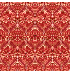 Vintage seamless pattern with red gemstones vector