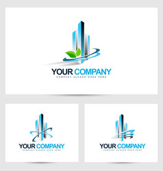 Corporate building logo vector