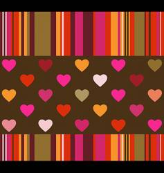 hearts and stripes background vector image