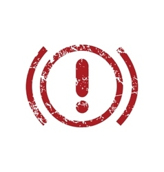 Alert red grunge icon vector