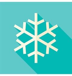 Flat Design Christmas Winter Snowflake Icon vector image