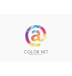 Net logo design color net logo web logo design vector