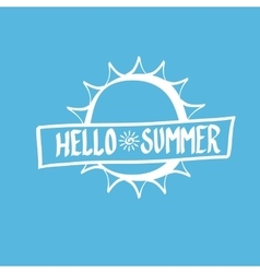 Hello summer funny vector
