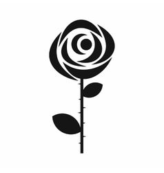 Rose icon in simple style vector