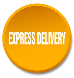 Express delivery orange round flat isolated push vector