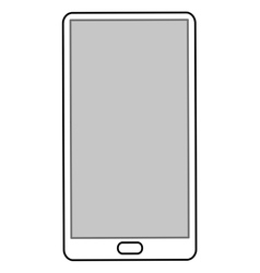 Cellphone with five buttons vector