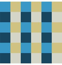 Blue cream chess board background vector