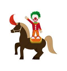 circus clown icon vector image