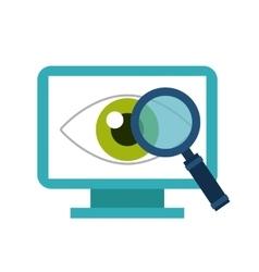 Computer eye lupe icon media design vector