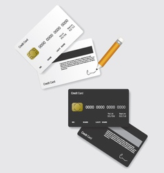 Credit card black and white vector image vector image