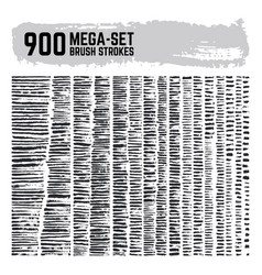 dirty inked brushstroke mega super set 900 vector image vector image
