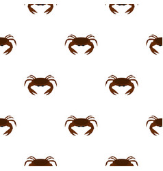 Edible brown crab pattern seamless vector