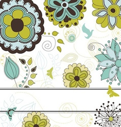 Floral and Nature Background for Your Text vector image