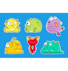 funny cartoon unusual monsters vector image vector image