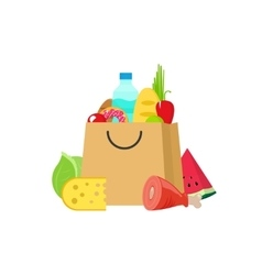 Grocery bag isolated on white vector