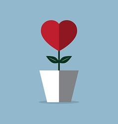 Heart flower pot vector