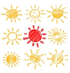 Highlighter Sun Set vector image vector image