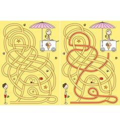 ice cream maze vector image