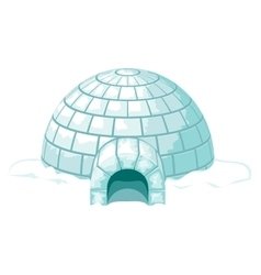Igloo icy cold home or ice house vector