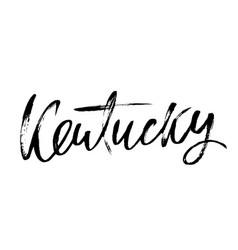 Kentucky modern dry brush lettering retro vector