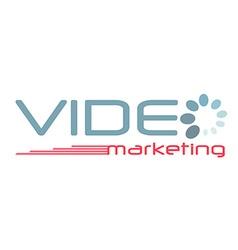 Logo lettering video marketing vector