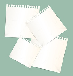 Paper Sheets vector image vector image