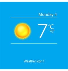Realistic weather icon shiny sun vector