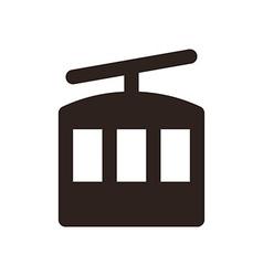 Ropeway icon vector image
