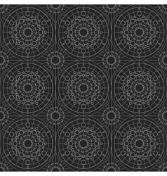 Silver geometric seamless ornament vector image vector image
