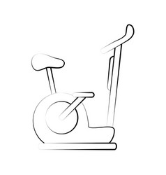 spinning stationary bicycle vector image