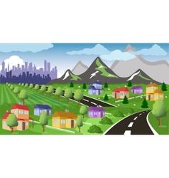 Suburban houses vector