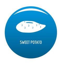Sweet potato icon blue vector