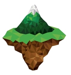 Mountain and terrain low poly isolated icon design vector