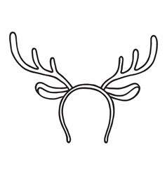 Funny mask with christmas reindeer horns vector