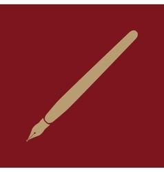 The fountain pen icon vector