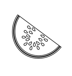 Delicious melon fruit isolated icon vector