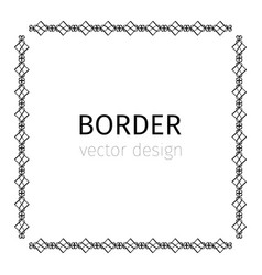 Square black scythian border vector