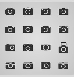 Set of photo icons vector