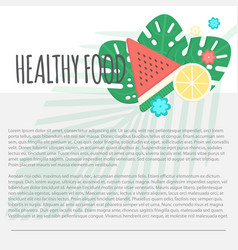 Healthy food template vector