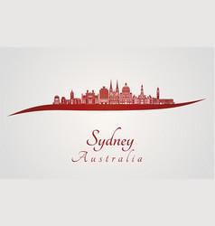 sydney v3 skyline in red vector image