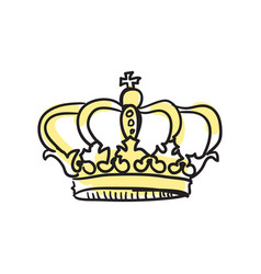 Crown of queen hand drawn isolated icon vector