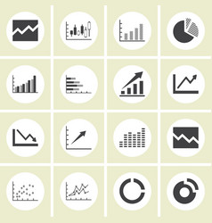 graph icon set vector image