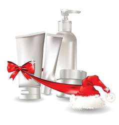 Christmas body products vector