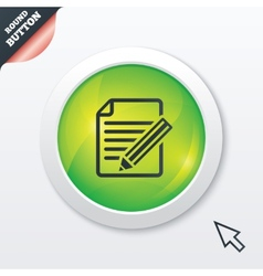 Edit document sign icon edit content button vector