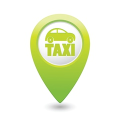 taxi icon green map pointer4 vector image